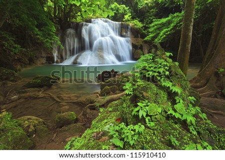 Huay Mae Khamin Waterfall, Kanchanaburi, Thailand