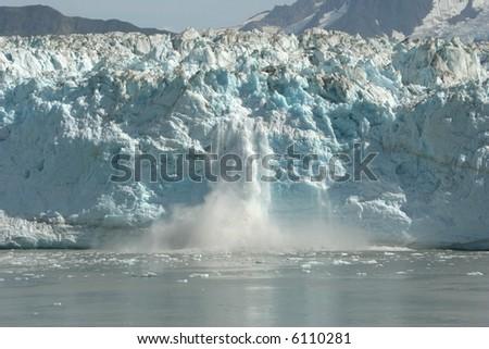 Hubbard Glacier Calving - stock photo