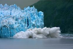 Hubbard Glacier calving - longest tidewater glacier in Alaska
