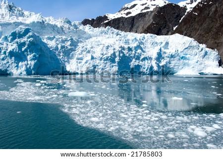 Hubbard glacier in Alaska USA