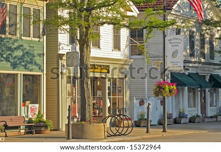 HUDSON, OH - JUNE 18: The charming historic district of Hudson, Ohio, is spruced up in readiness for the annual summer Hudson Festival Days.