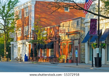HUDSON, OHIO - JUNE 18: The historic Main Street district of Hudson Ohio is spruced up in preparation for its annual summer Hudson Festival Days.
