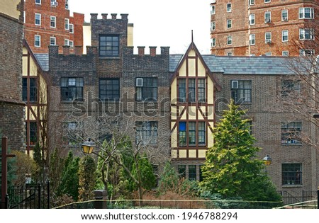 Hudson View Gardens, cooperative apartment complex located in Hudson Heights subsection of Washington Heights neighborhood in Manhattan, New York City (1923 -1925) Stock fotó ©