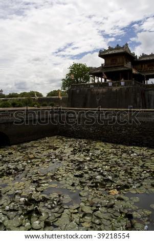 hue imperial palace and lotus lake, vietnam