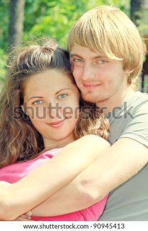 hug - stock photo