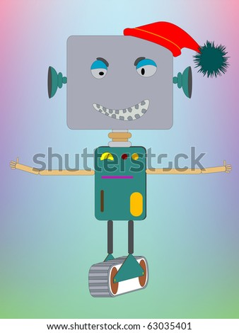 hug robot, abstract art illustration; for vector format please visit my gallery