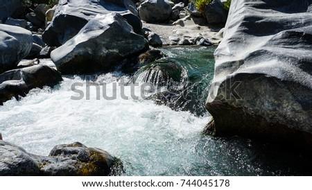 huge boulders on the river #744045178
