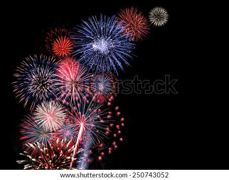 Huge colorful fireworks display #250743052