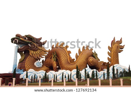 Huge dragon statue