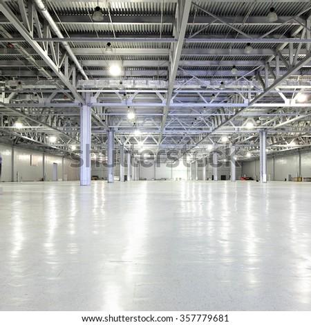 Huge empty storehouse