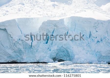 Huge glacier in the  Antarctic waters