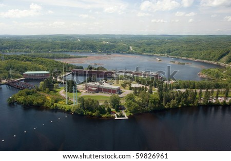 Huge hydroelectric plant in Shawinigan Quebec