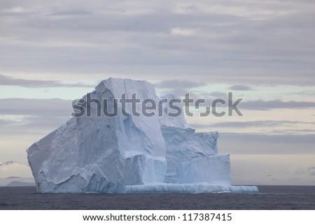 Huge Iceberg floating in the Drake Passage, Antarctica