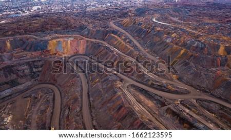Huge iron ore quarry opencast mining of iron ore opencast mining.