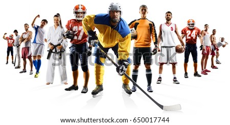 Huge multi sports collage soccer basketball football hockey baseball boxing etc #650017744
