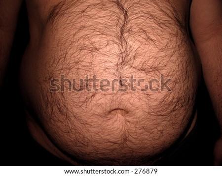 Huge overweight belly