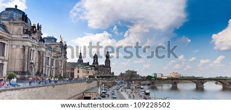 Huge panorama of Dresden, Germany. Cityscape. Skyline