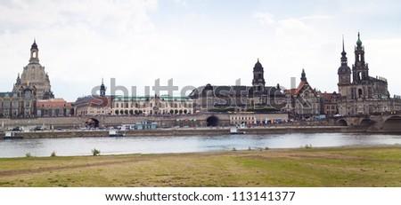 Huge panorama of Dresden, Germany. Cityscape. Skyline