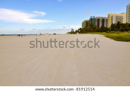 Huge sand beach in Miami
