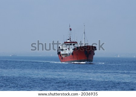 huge sea ship on sea of marmara