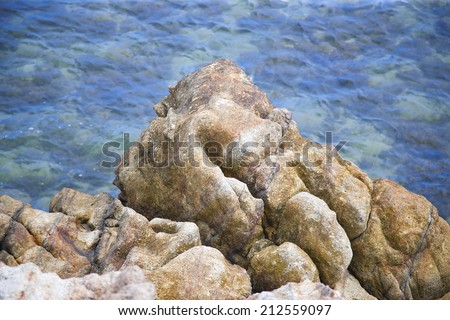 huge sea stones with rich texture high resolution natural background