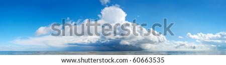 Huge storm cloud over the sea