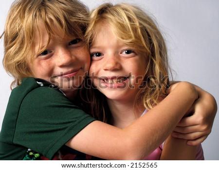 Hugging Twins