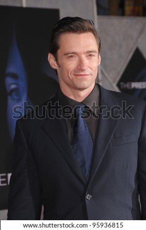 """HUGH JACKMAN at the world premiere, in Hollywood, of his new movie """"The Prestige"""". October 17, 2006  Los Angeles, CA Picture: Paul Smith / Featureflash - stock photo"""