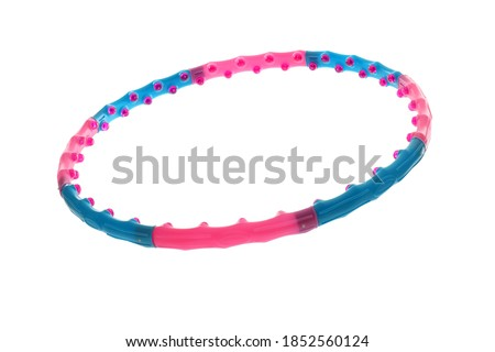 Hula hoop isolated on white. Sport equipment