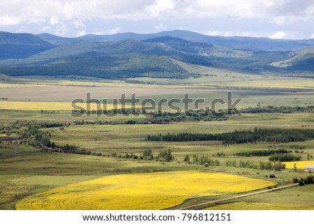 Hulunbuir Grasslands near Enhe, China #796812151