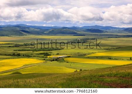 Hulunbuir Grasslands near Enhe, China #796812160