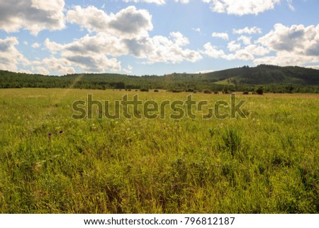 Hulunbuir Grasslands near Enhe, China #796812187
