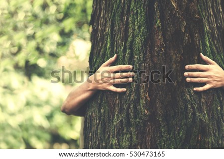 human and nature contact