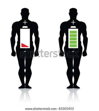 human body high low battery