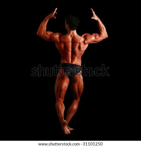 Human body of a man anatomy, isolated on a black background, please see some of my other parts of a body images