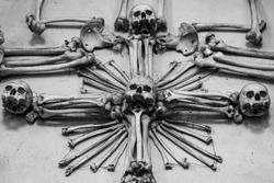 human bones in the church