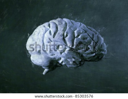 Human brain painting