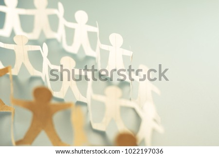 Human chain paper as a crowd or community concept #1022197036