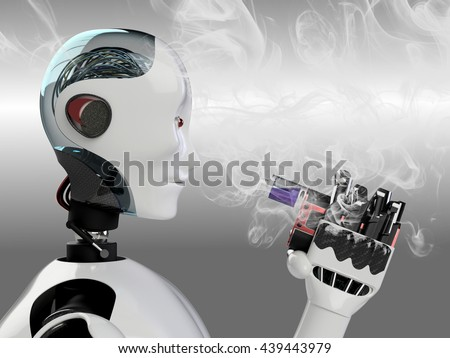 Royalty-free Stylish robot with wires and see… #101640409 Stock ...