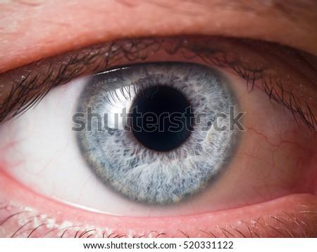 Human eye close-up - Shutterstock ID 520331122