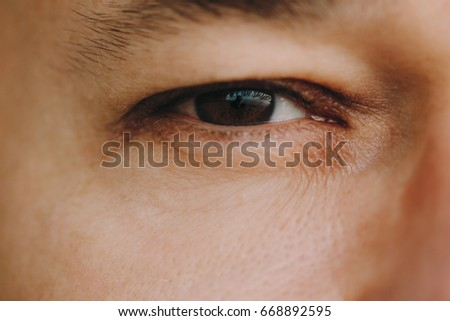 Human eye close-up #668892595