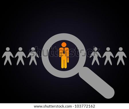 Human figures and symbols of social communication
