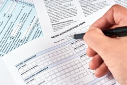 Human fill a prior authorization form