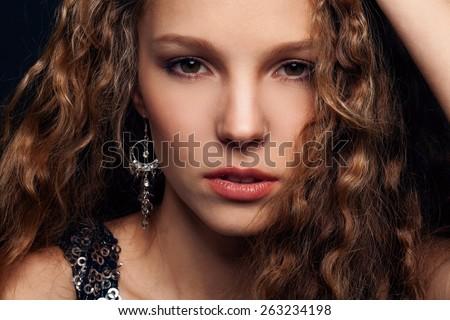Human Hair. Mystic wild woman
