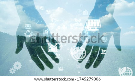 Human hands and environmental concept.