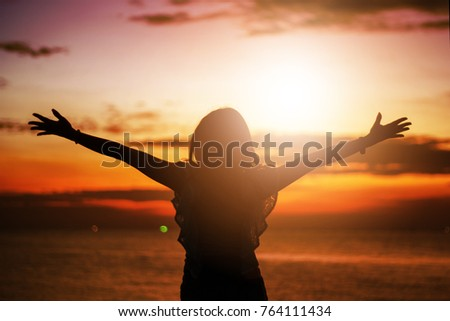 Human hands open palm up worship. Eucharist Therapy Bless God Helping Repent Catholic Easter Lent Mind Pray. Christian Religion concept background. fighting and victory for god Foto stock ©