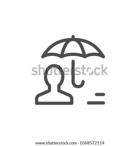 Human insurance line icon isolated on white