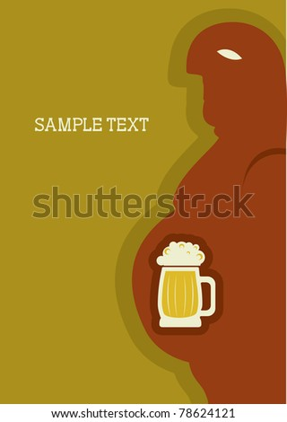 Human passion about beer.Symbol of alcohol.Raster