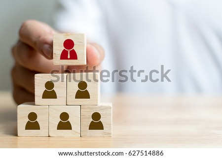 Human resource management and recruitment business concept