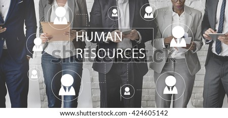 Human Resources Business Profession Graphic Concept #424605142